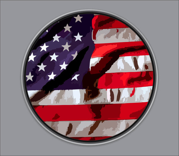 American Flag Bass Drum Head