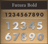 "Letters / Custom: Metal Address Numbers ""Four Digits"""