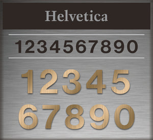 "Letters / Custom: Metal Address Numbers ""Three Digits"""