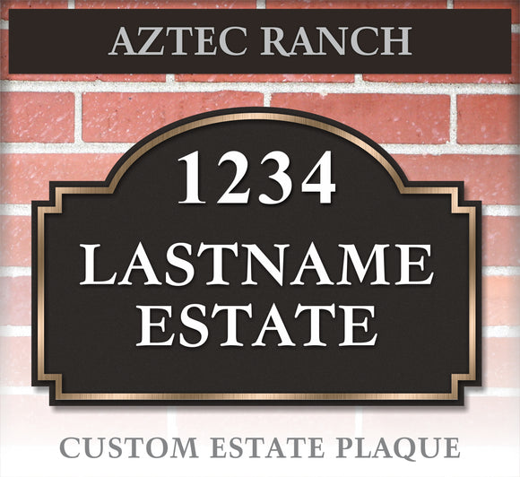 Plaque / Custom: Aztec Ranch