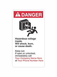 Danger Hazardous Voltage Label