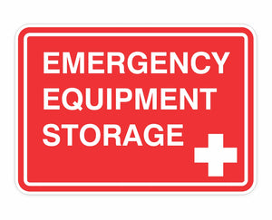 Emergency Equipment Storage Decals