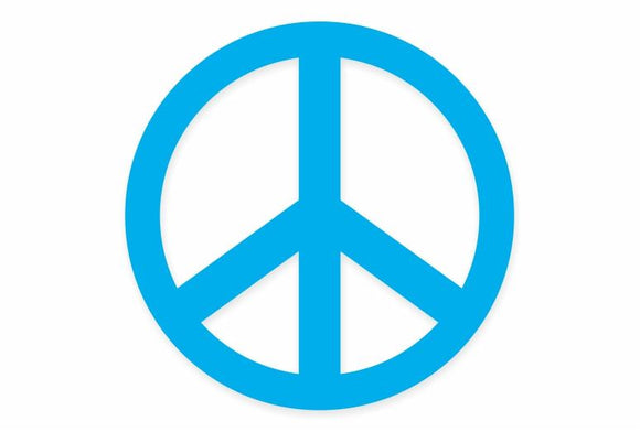 Blue Peace Symbol Sticker
