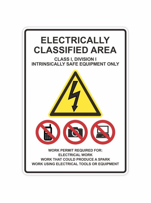 Electrically Classified Area Decal