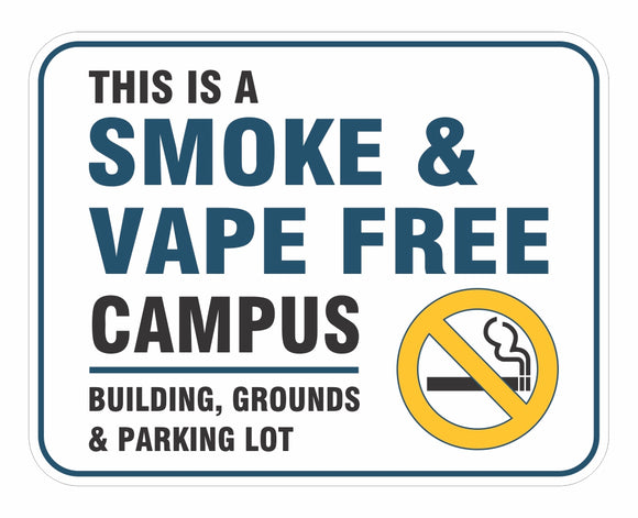 Smoke Free Campus Decals