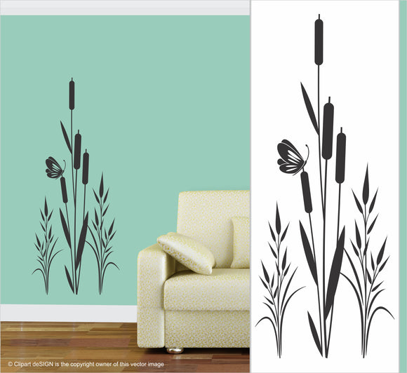 Wall Art / Natural Vibe: Cat Tail Butterfly