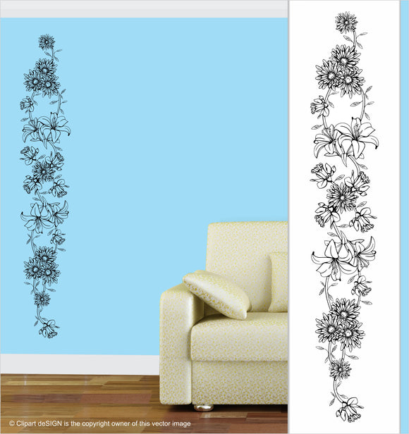 Wall Art / Natural Vibe: Floral Frieze 3