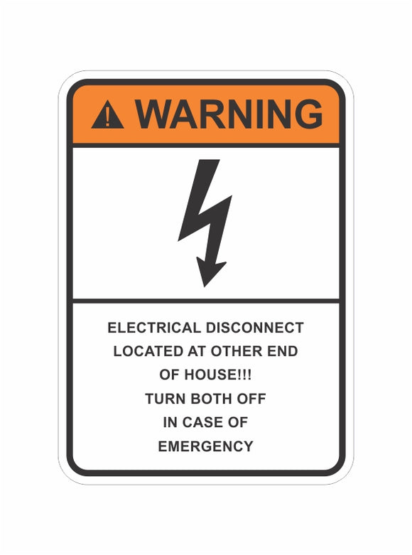 Warning Electrical Disconnect