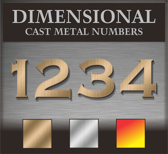 Dimensional Metal Letters & Numbers