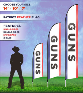 Guns Flags and Banners