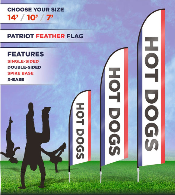 Hot Dog Banners and Flags