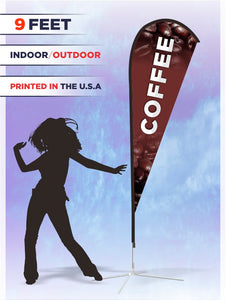 Printed Coffee Flag