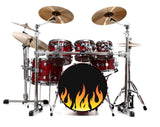 Bass Drum Skinz: Flames