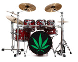 Marijuana Bass Drum Head