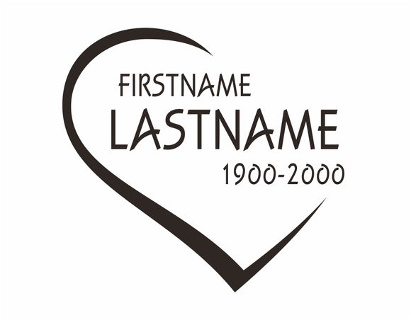 Eternal Love In Memory Decal