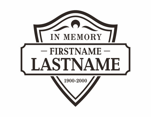 In Memory Car Stickers