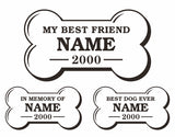 Mans Best Friend In Memory Decals