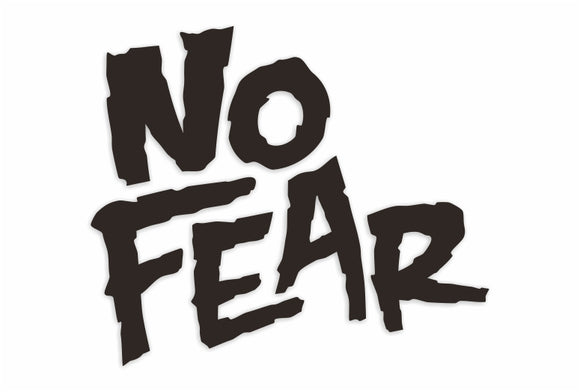No Fear Decal