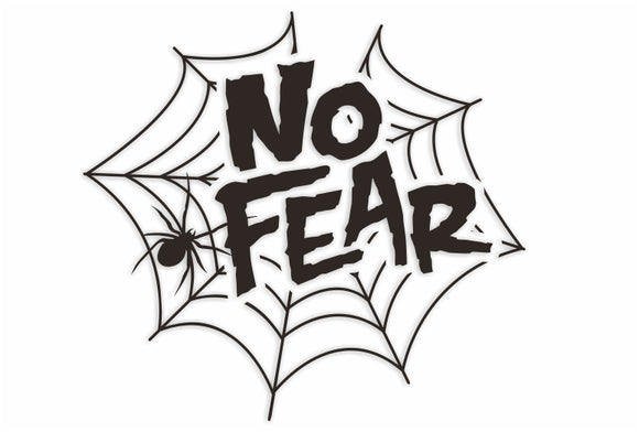 No Fear Spider Web Decal