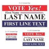 Political Sign Package: Traditional Serif Design