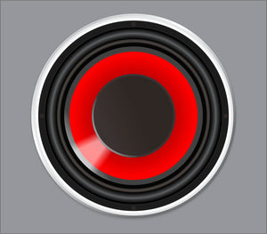 Bass Drum Skinz: Red Woofer
