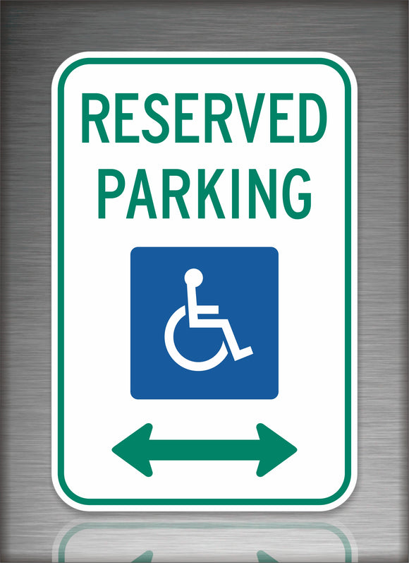 Handicap Parking Green & Blue Sign
