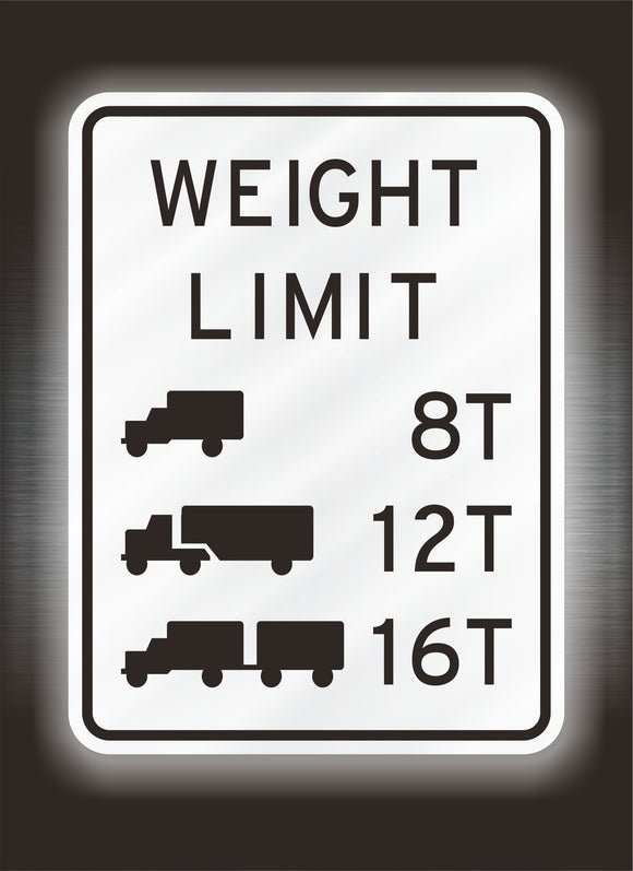 Bridge Weight Limit Sign