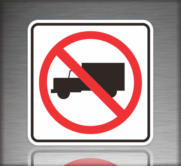 No Trucks Allowed Symbol Sign