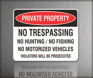 Sign / Notice: Private Property No Trespassing