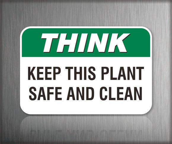 Safety Signs for Plant Operation