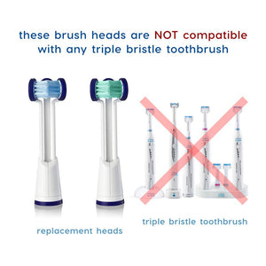 6 Heads Compatible with Sonicare® Brand Toothbrushes