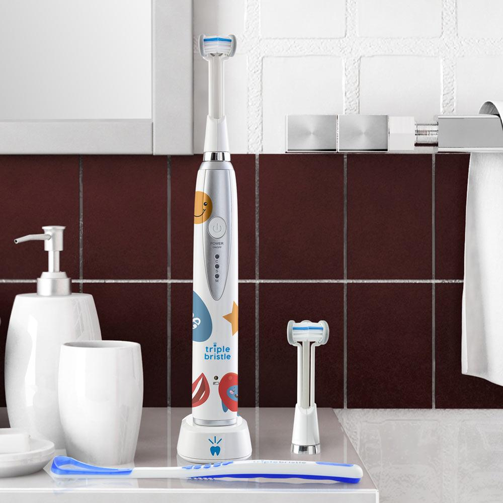 Load image into Gallery viewer, Triple Bristle™ Kids Sonic Electric Toothbrush