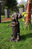 Cat And Mouse Large Garden  Ornament Statue Bronze Effect