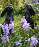 Garden Ornament Statues Bronze Effect Charming set of Hares Dispatch.