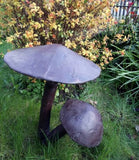 Large Mushroom Garden Ornament Bronze Finish Aluminium Metal Sculpture toadstool