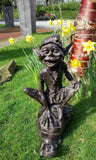 Pixie On A Snail Large Garden Ornament Statue Bronze Effect Despatched 1-2 days
