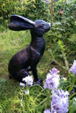 Garden Ornament Statue Bronze Effect Charming Hare. Dispatch1-2 Days.