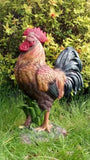 Life-sized Rooster Cockerel Chicken Garden Ornament Statue Figurine post 1-2 d