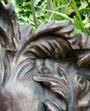 Garden Ornament Statue Wall plaque  Bronze Effect Green Woman. Despatch1-2 Days.