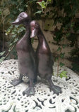 Ducks Birds Garden Ornament, Statue Figurine Bronze Effect.