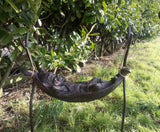 Relaxed Pixie in Hammock Garden Ornament Statue Bronze Effect Finish