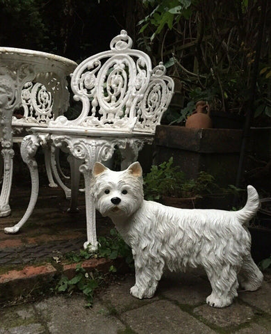 West Highland Terrier Westie Dog Statue Garden or Interior Ornament