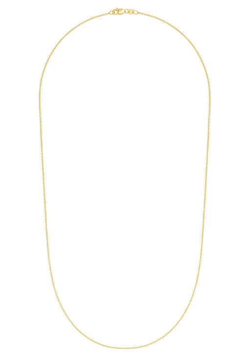 "Effy 14K Yellow Gold 1.2mm 18"" Cable Chain"