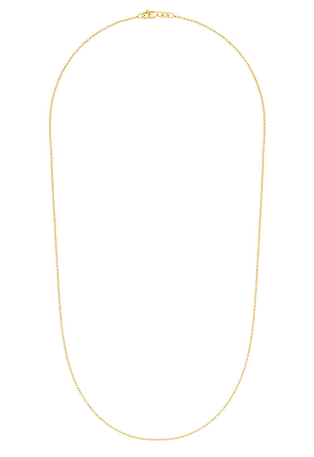 "Effy 14K Yellow Gold 1.2mm 20"" Cable Chain"