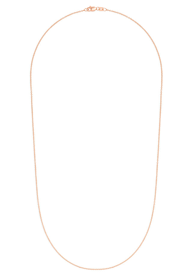 "Effy 14K Rose Gold 1.2mm 18"" Cable Chain"