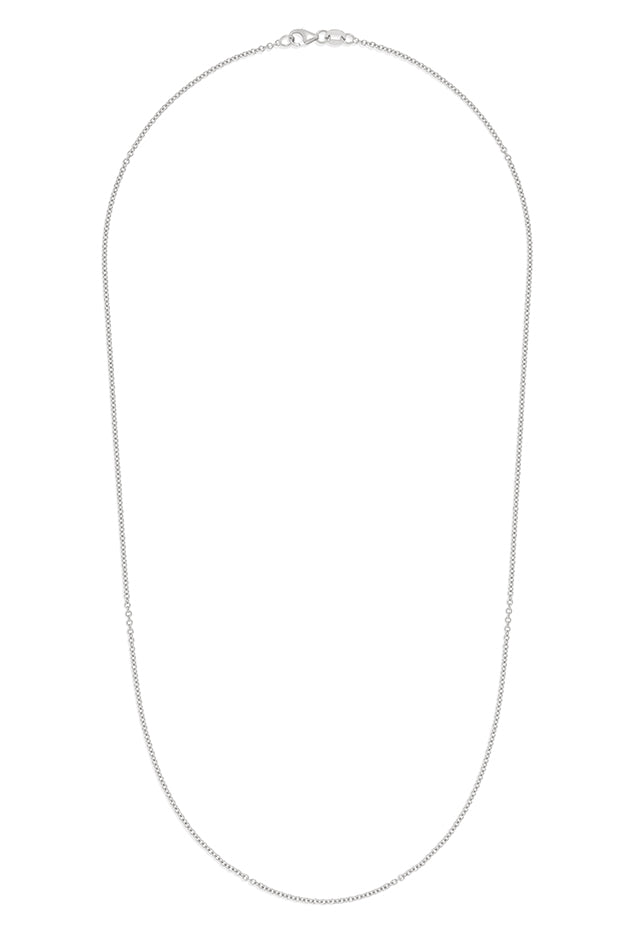 "Effy 14K White Gold 1.5mm 18"" Cable Chain"
