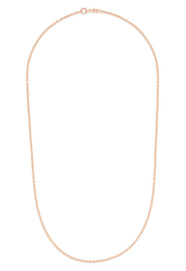 "Effy 14K Rose Gold 2mm 18"" Cable Chain"