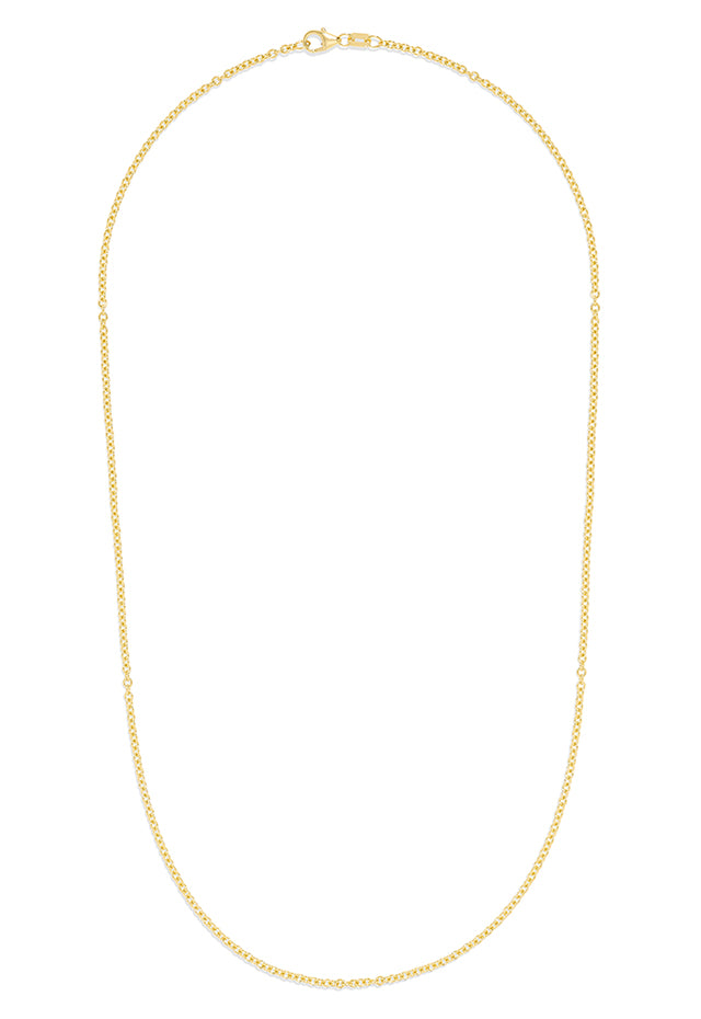 "Effy 14K Yellow Gold 2mm 18"" Cable Chain"