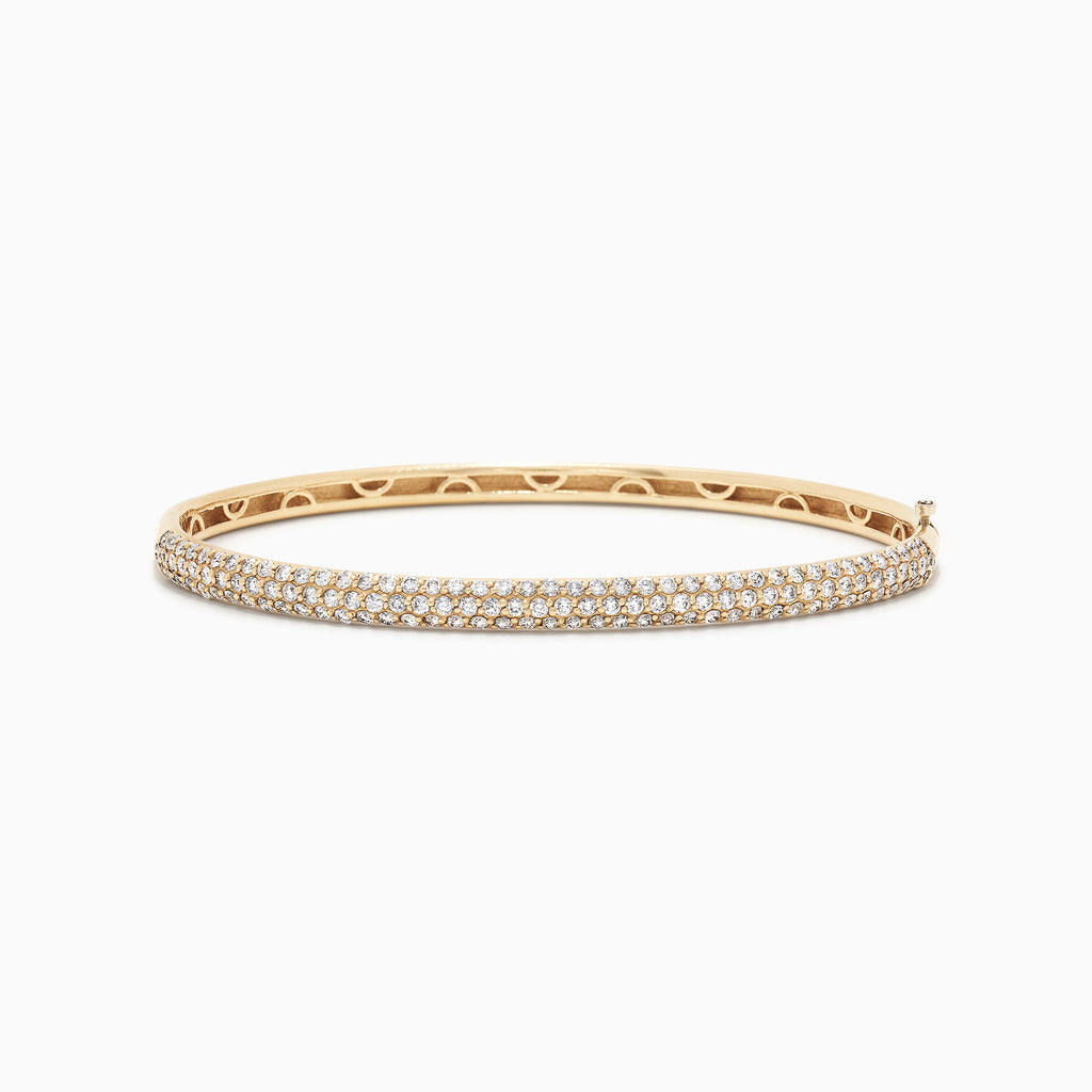Effy D'Oro 14K Yellow Gold Diamond Pave Bangle, 1.87 TCW