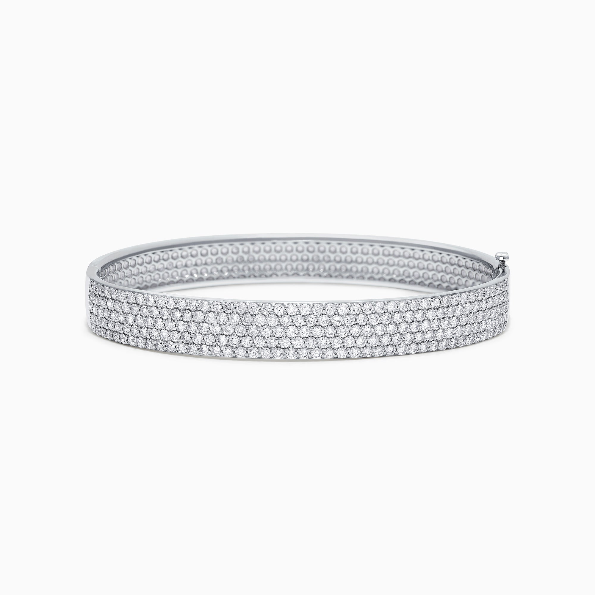 Effy Pave Classica 14K White Gold Diamond Pave Bangle, 4.17 TCW